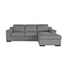 Valencia 2.5 Sofabed Left + Storage Chaise R - Charcoal