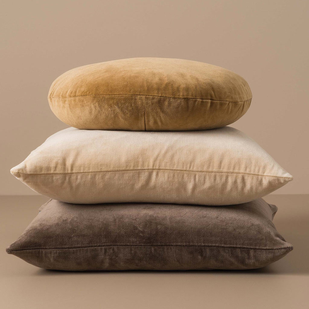 Citta Design Cushion - Cotton Velvet Biscuit