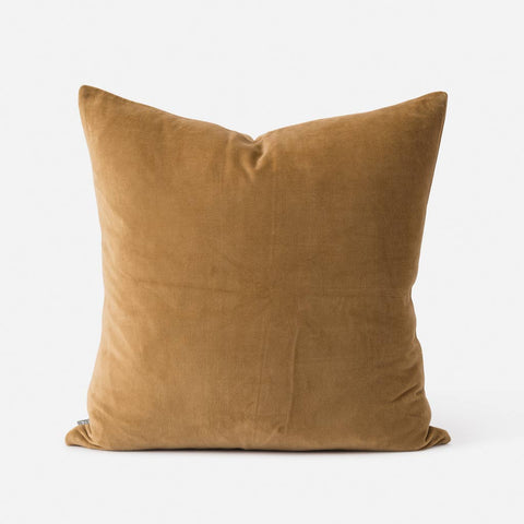 Citta Design Cushion - Cotton Velvet Scoria Tint - with Feather Inner