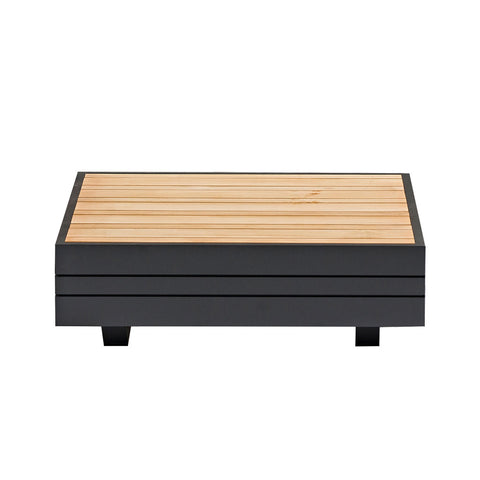 Cube Outdoor Side Table - Charcoal