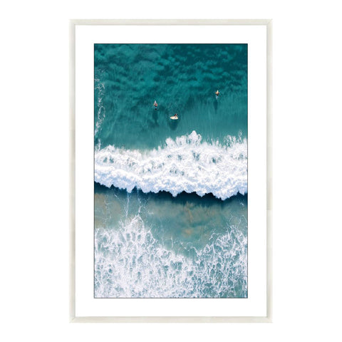 Wall Art - Catching Waves - Black Frame - 120x80cm