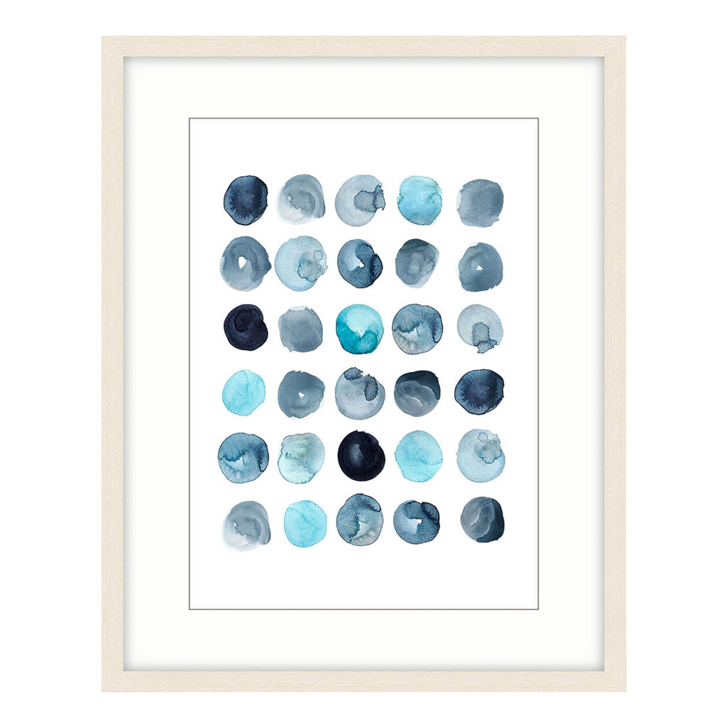 Spot On Wall Art - Shades of Blue Paint - Abstract Art
