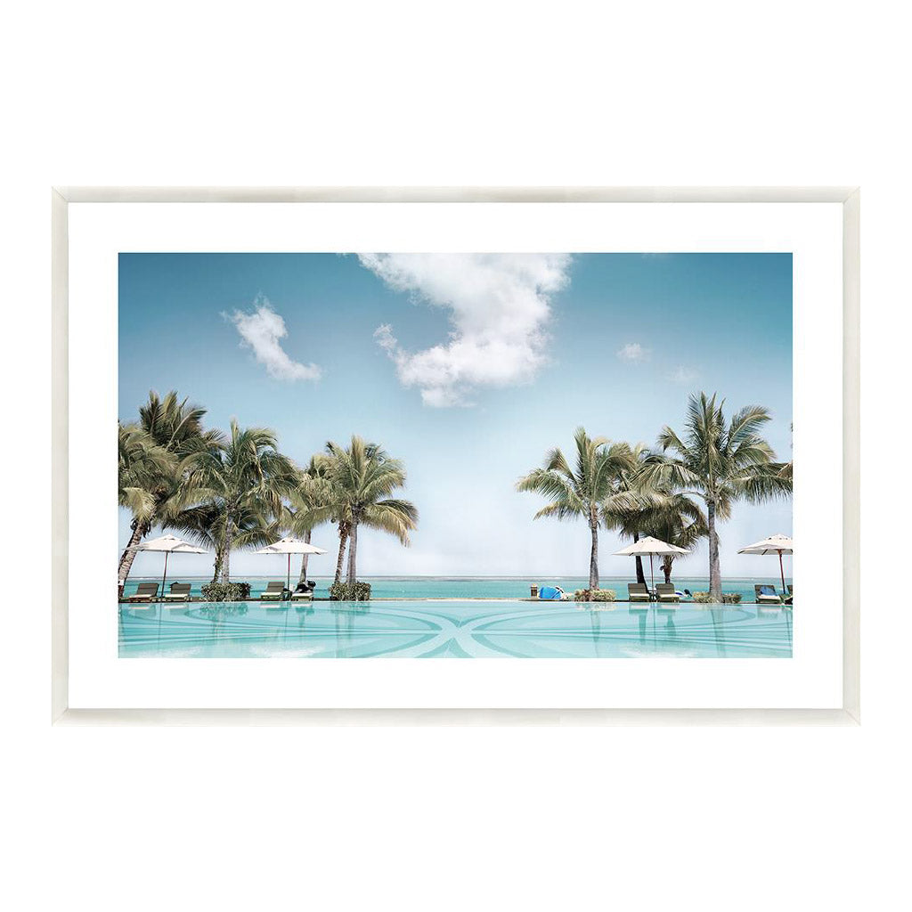 Wall Art - View of Paradise Print - White Frame