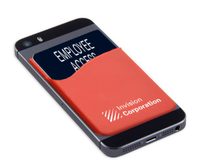 Cell phone wallet for ID cards