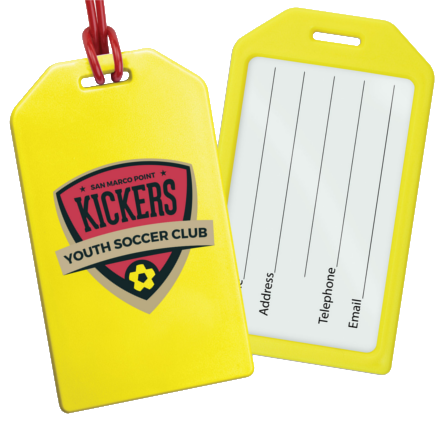 custom printed luggage tag holders for cruises and travel expos