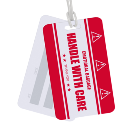 xpress luggage tag holders are affordable custom luggage tags for cruises, travel shows and trade shows