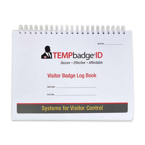 TEMPbadge™ Visitor Badge Log Book (480 badges) - IDenticard.com