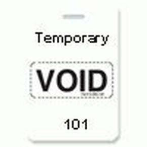 "Reusable VOIDbadge White 101-200 ""TEMPORARY"""