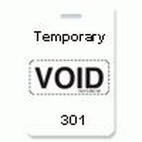 "Reusable VOIDbadge White 301-400 ""TEMPORARY"""