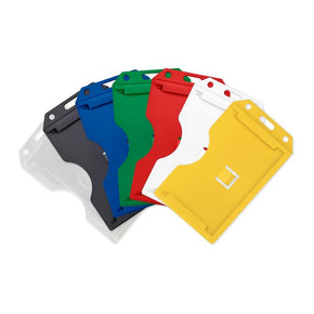 "Rigid Plastic Vertical 2-Sided Multi-Card Holder, 2.26"" x 3.58"" - IDenticard.com"