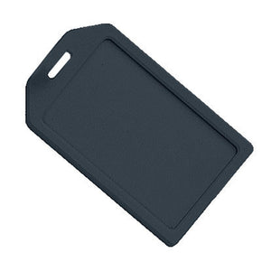 Black Rigid Plastic Luggage Tag Holder - IDenticard.com