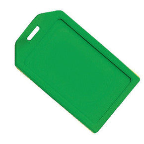 Green Rigid Plastic Luggage Tag Holder - IDenticard.com