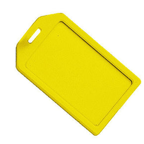 Yellow Rigid Plastic Luggage Tag Holder - IDenticard.com