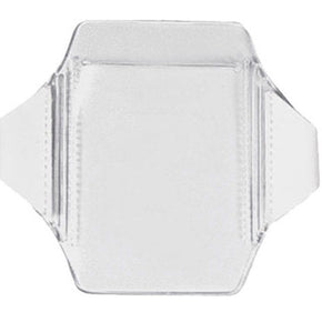 "Clear Vinyl Vertical Arm Band Badge Holder, 2.62"" x 3.62"" - IDenticard.com"