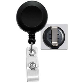 Badge Reel with Clear Vinyl Strap & Belt Clip - IDenticard.com