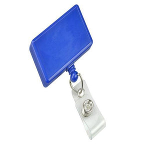 Rectangle Badge Reel with Clear Vinyl Strap