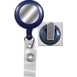 Blue Badge Reel with Silver Sticker, Reinforced Vinyl Strap & Spring Clip - IDenticard.com
