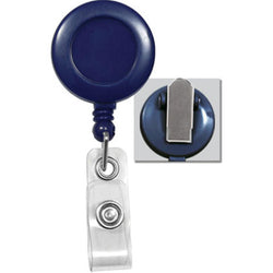 Blue Badge Reel with Clear Vinyl Strap & Spring Clip - IDenticard.com
