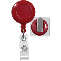 Red Badge Reel with Clear Vinyl Strap & Spring Clip