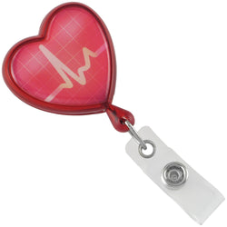 Translucent Red EKG Themed Heart Shaped Reel