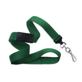 "Flat 5/8"" Lanyard with Nickel-Plated Steel Swivel Hook"