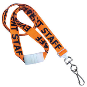 "5/8"" (16 mm) Pre-Printed ""EVENT STAFF"" Lanyards"