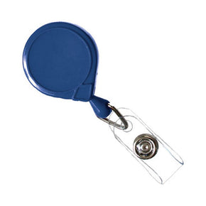 Mini-Bak Badge Reel with Clear Vinyl Strap and Slide Clip - IDenticard.com