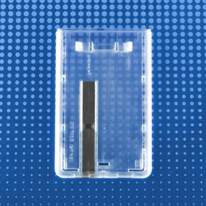 Rigid Plastic Vertical Smart Card Holder with Slide Ejector