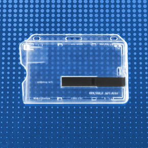 "Rigid Plastic Horizontal Smart Card Holder with slide ejector, 3-3/8"" x 2-1/8"""