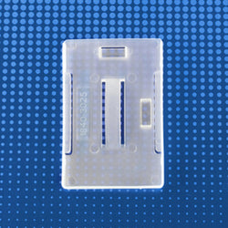 Rigid Plastic Vertical-Horizontal Multi-card Badge Holder, frosty clear, 2-1/8