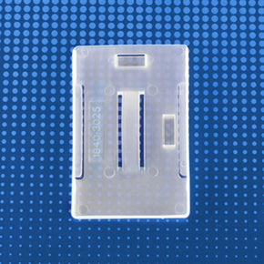 "Rigid Plastic Vertical-Horizontal Multi-card Badge Holder, frosty clear, 2-1/8"" x 3-3/8"""