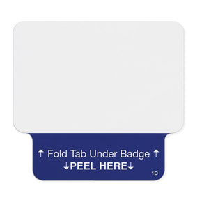 1-day single-piece adhesive tab-expiring badge (thermal printable, for TEMPbadge™ VMS and WhosOnLocation™) - IDenticard.com