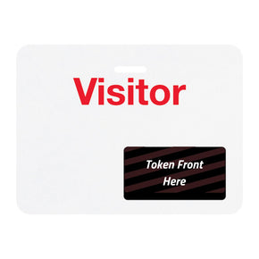 "TIMEtoken Large Expiring Visitor Badge BACK - ""VISITOR"" (Box of 1000)"