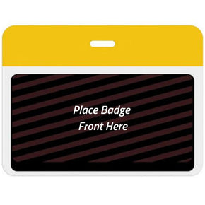Large Expiring Visitor Badge BACK - Color Bar (Box of 1000)