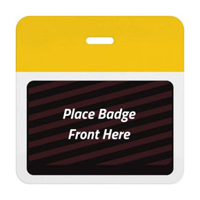 Expiring Visitor Badge BACK - Color Bar (Box of 1000)