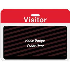 Large Expiring Visitor Badge BACK - Pre-Printed Title (Box of 1000)