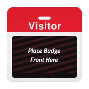 Expiring Visitor Badge BACK - Pre-Printed Title (Box of 1000)