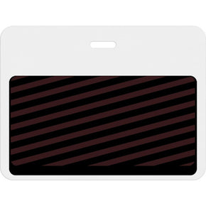 Large slotted expiring badge back with printed white bar - IDenticard.com