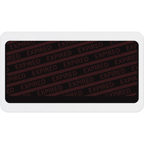 "Large adhesive expiring badge back with ""EXPIRED"" - IDenticard.com"