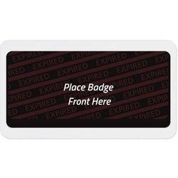 Large Expiring Visitor Badge BACK (Box of 1000)