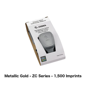 Metallic Gold Printer Ribbon (Zebra ZC Series, 1,500 Imprints) - IDenticard.com
