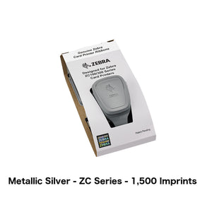 Metallic Silver Printer Ribbon (Zebra ZC Series, 1,500 Imprints) - IDenticard.com