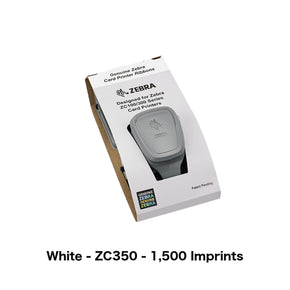 White Printer Ribbon (Zebra ZC350, 1,500 Imprints)