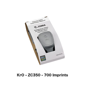 KrO Black Printer Ribbon (Zebra ZC350, 700 Imprints)