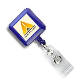 Custom Economy Square Badge Reels - IDenticard.com