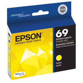 Yellow Epson 69 Ink Cartridge (Stylus C120) - IDenticard.com