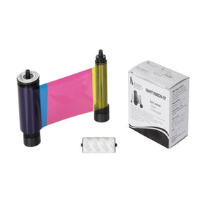 YMCKO Printer Ribbon with Cleaning Roller (SMART 31 and 51, 250 Imprints) - IDenticard.com