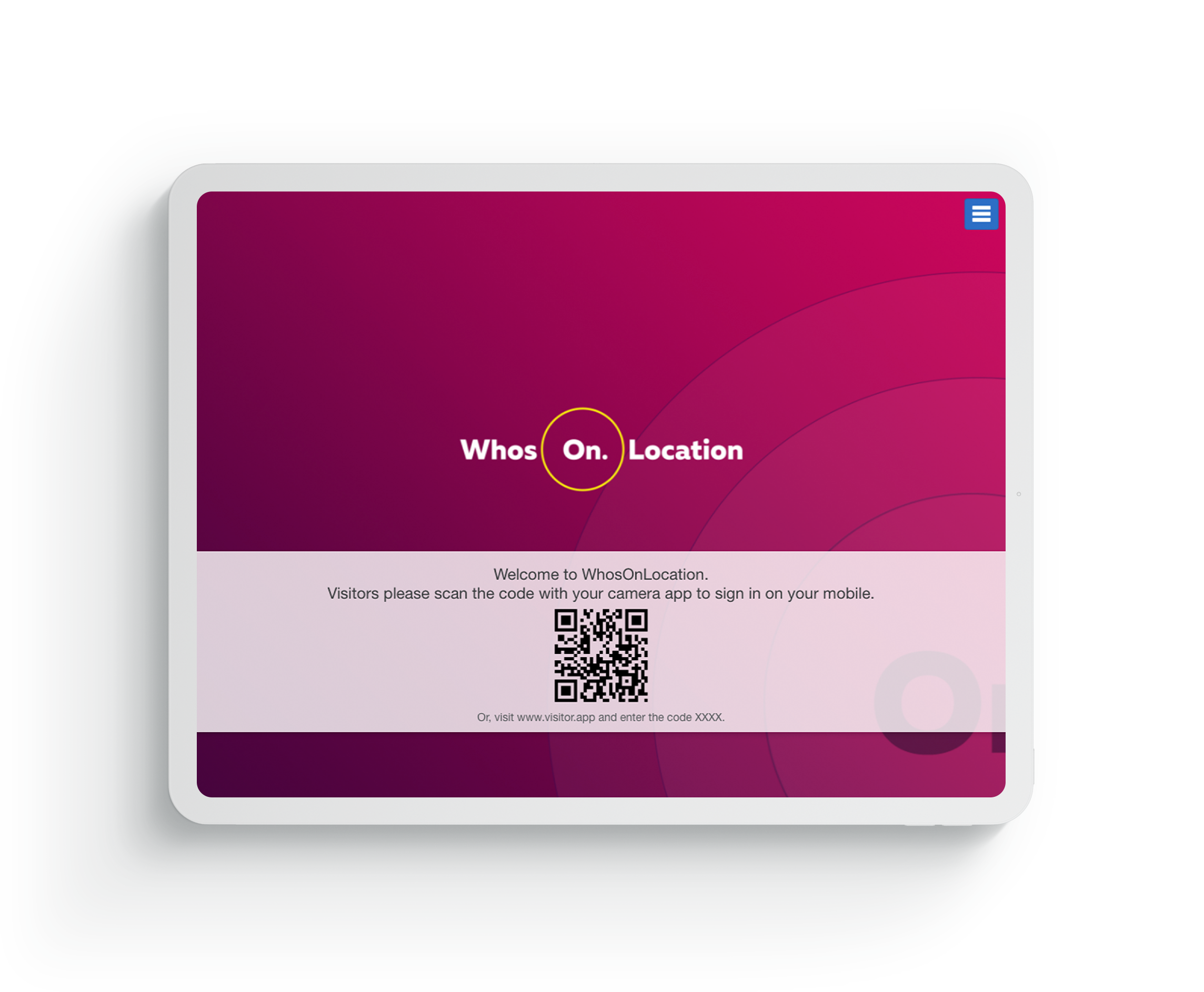 Go touchless with your visitor check in