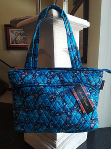 Quilted cotton medium tote