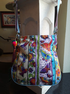 Butterfly floral crossbody
